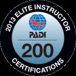 PADI Elite Instructor 200